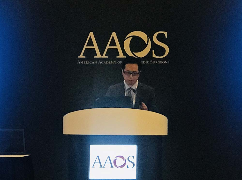 Dr. Jason Hsu presenting at AAOS 2019