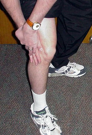 Figure 8 - Lateral knee pain	 affecting the outside of the knee	 is sometimes the result of arthritis of the knee.