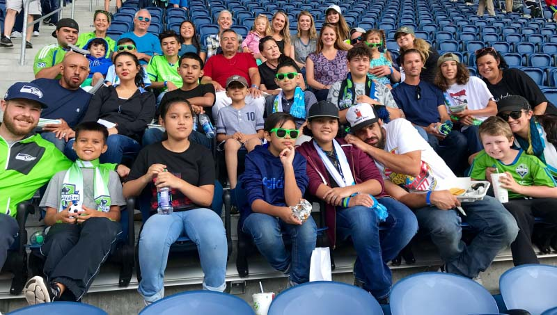 Seattle Children's Patients & Families at the Sounder FC match!