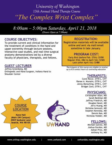 UW Hand Course 2018