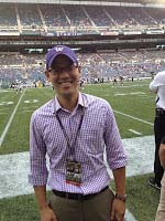 Dr. Albert Gee at Husky football game at Century Link field