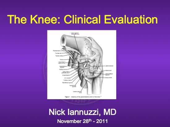 Knee Exam Workshop