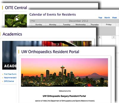 Resident portal screenshot